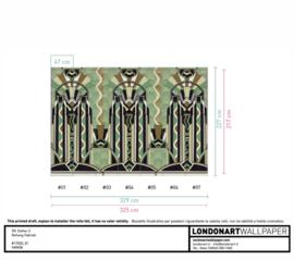 Londonart designbehang op maat