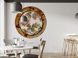Framed Wallpaper circle FLOWER