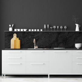 Backsplash panel BLACK MARBLE