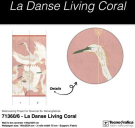 LA DANSE LIVING CORAL fabric B140xH252 cm (incl. speling)