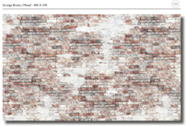 Bricks mixed - b450 x h270 cm