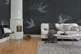 Rebelwalls CONCRETE ART SWALLOW (2 colors)