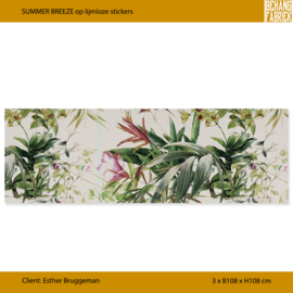 SUMMER BREEZE op lijmloze stickers 3x 108x108 cm