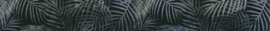 WATERCOLOR LEAVES indigo 525 x 60