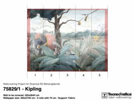 KIPLING op Fabric 325x264 cm (wordt 350x274)