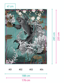 KOI 17021-04 B176xH235 cm (wordt 188x245) non woven SPOED