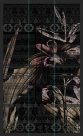 THE CARTOUCHE BLACK op naadloos PVC | B138 x H240 cm