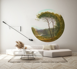 Framed Wallpaper circle PARC
