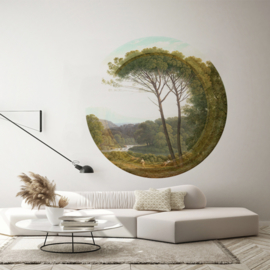 Framed Wallpaper circle PARC