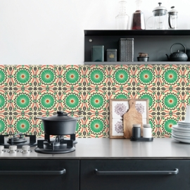 Retro Tile 1441 (green or blue)