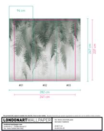 Breath of Ferns 18517-01 - 241x237 cm