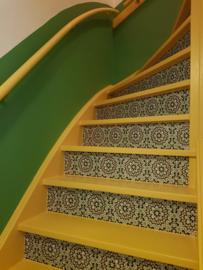 Traptrede Mozaiek oker groen