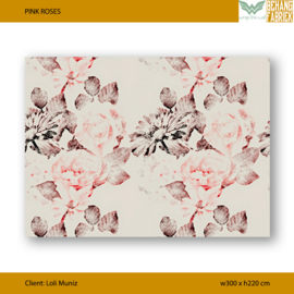 PINK ROSES Wrap The Wall  | W300 x H220 cm (no extra)