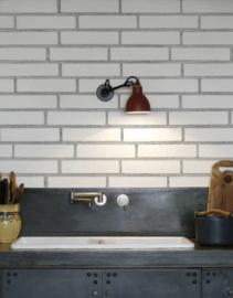 Stylish white bricks horizontal 525x50 / 235x60