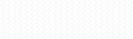 HERRINGBONE white 300x90 cm