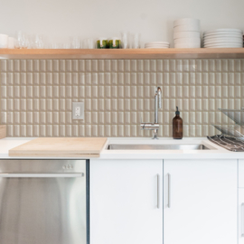 Backsplash panel RETRO TILE LONG