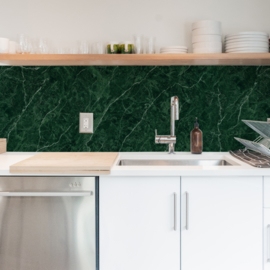 Backsplash panel MARBLE GREEN