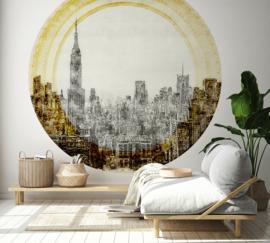 Framed Wallpaper cirkel CITY