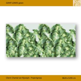 GIANT LEAVES Green op Vinyl | B620 x H295 cm (20 en 10 cm speling)