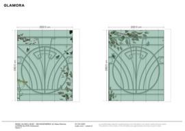 LOVERS GLXI11A | B222 x H282 cm (wordt 250 x 292 cm) x 2 | optie 1 van de nieuwe simulatie