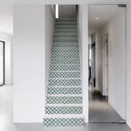 Traptrede Mozaiek groen of donkerblauw