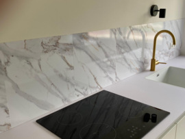 Backsplash panel WHITE MARBLE