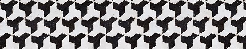 Traptrede Mosaiek zwart