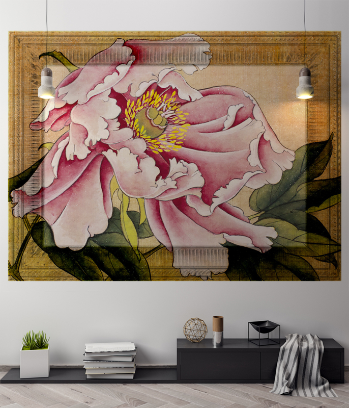 Framed Wallpaper PINK FLOWER