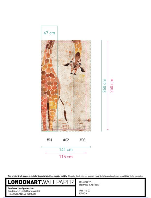 London Art ZOO Giraf 115x250 cm