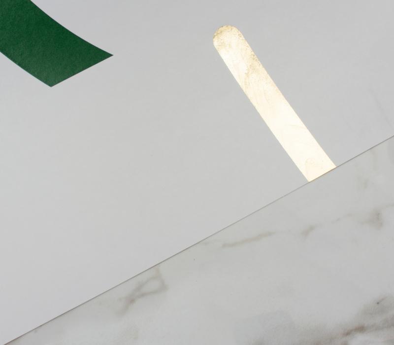 OFFSET fir green / gold
