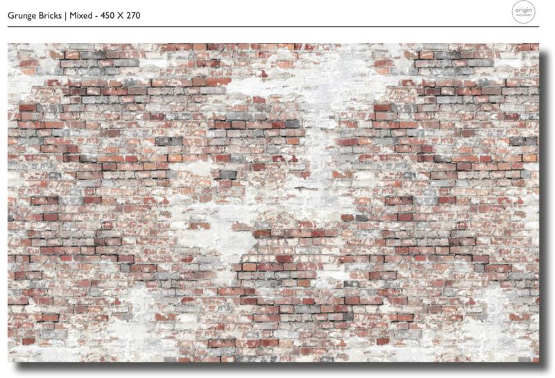 Bricks mixed - b450 x h270 cm
