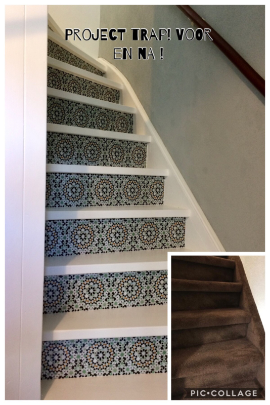 Stairs Mosaic Ocre Green