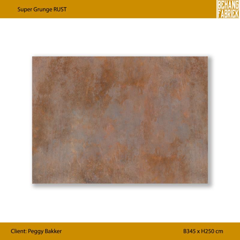Super grunge RUST B345 x H250 cm (incl. speling)