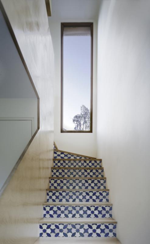 Stairs Mosaic green or dark blue