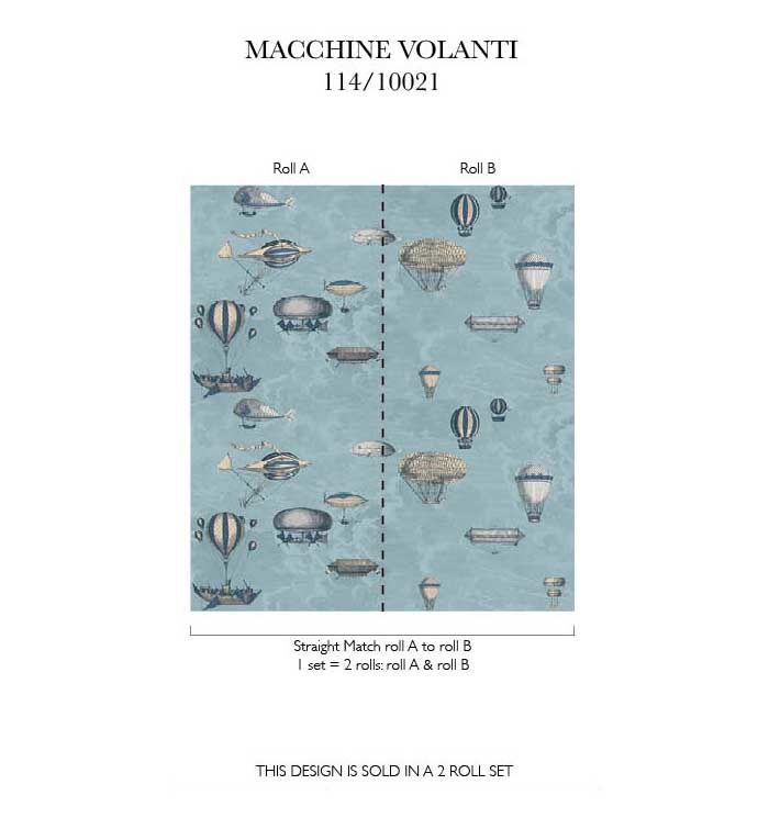 Fornasetti - MACCHINE VOLANTI (3 kleuren)