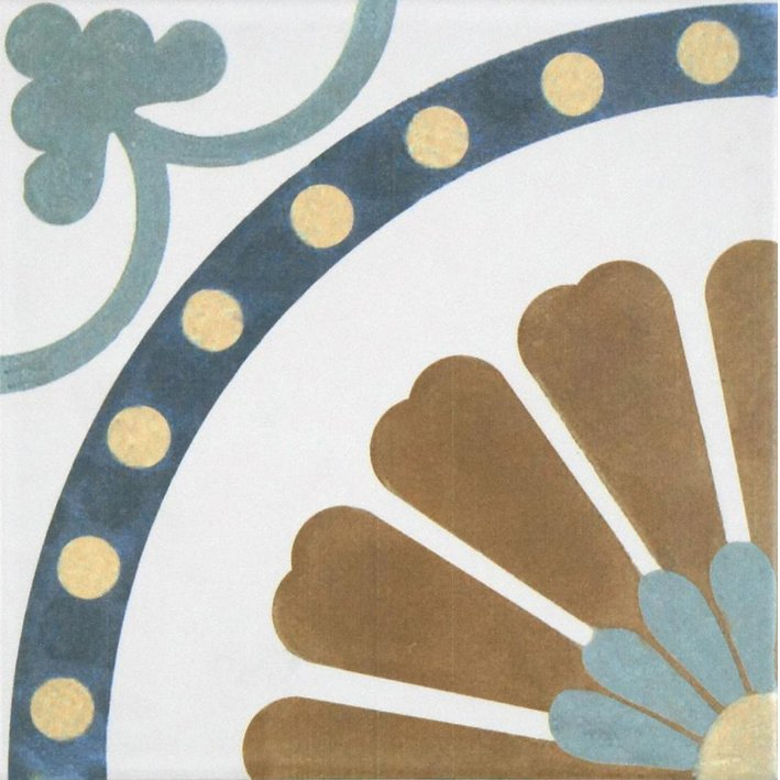 Stair Sticker CEMENT TILE FLOWER