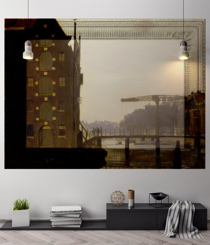 Framed Wallpaper BRIDGE