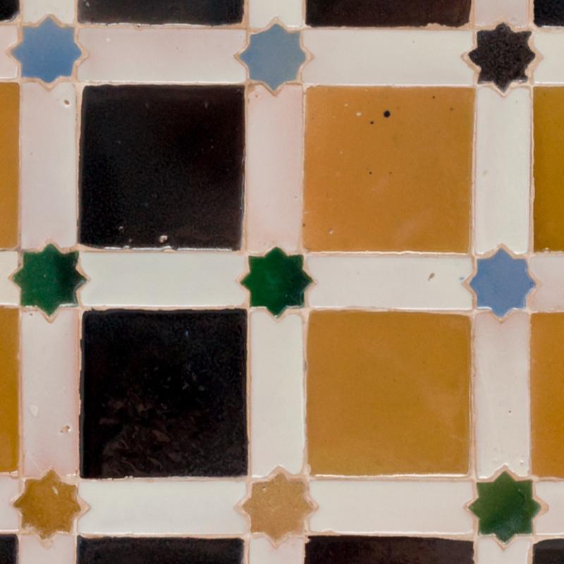 Traptrede Mozaiek bruin geel