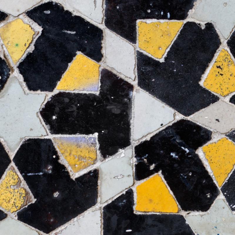 Stairs Mosaic Black Yellow