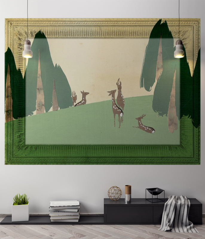 Framed Wallpaper DEER