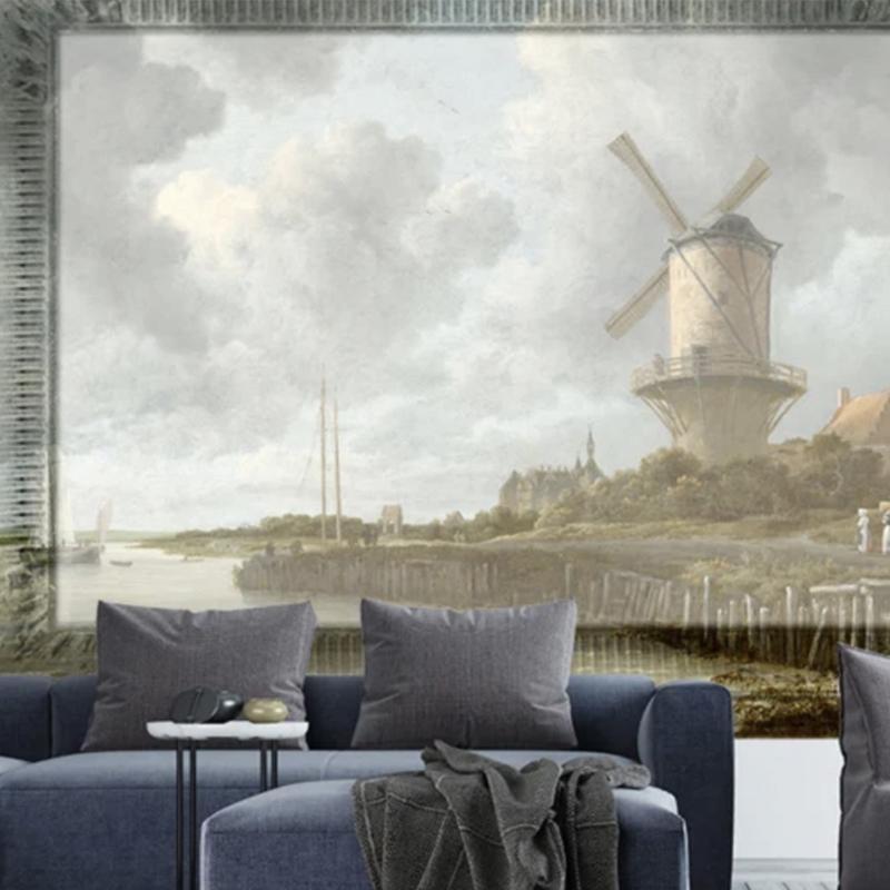 Framed Wallpaper MILL