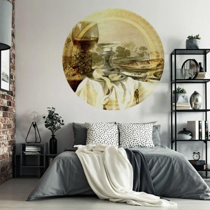 Framed Wallpaper circle STILL LIFE