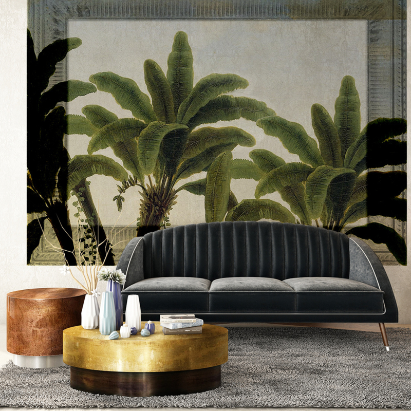 Framed Wallpaper PALMS