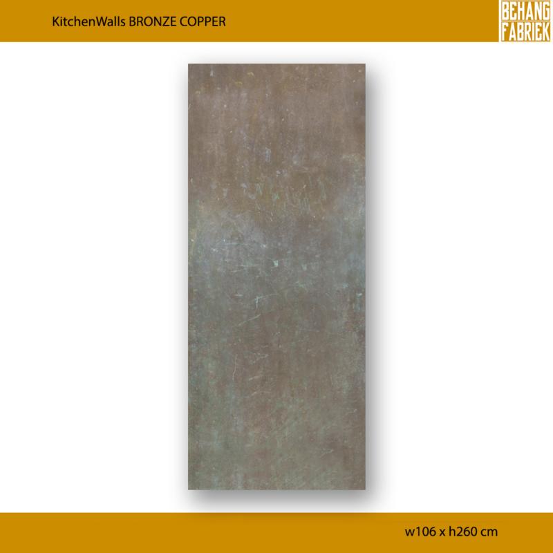 KitchenWalls Bronze Copper 106 x 260 cm