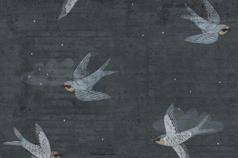 Rebelwalls CONCRETE ART SWALLOW (2 colors)
