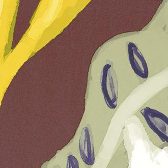 Elitis Flower Power FLEURE DE LUNE (6 kleuren)
