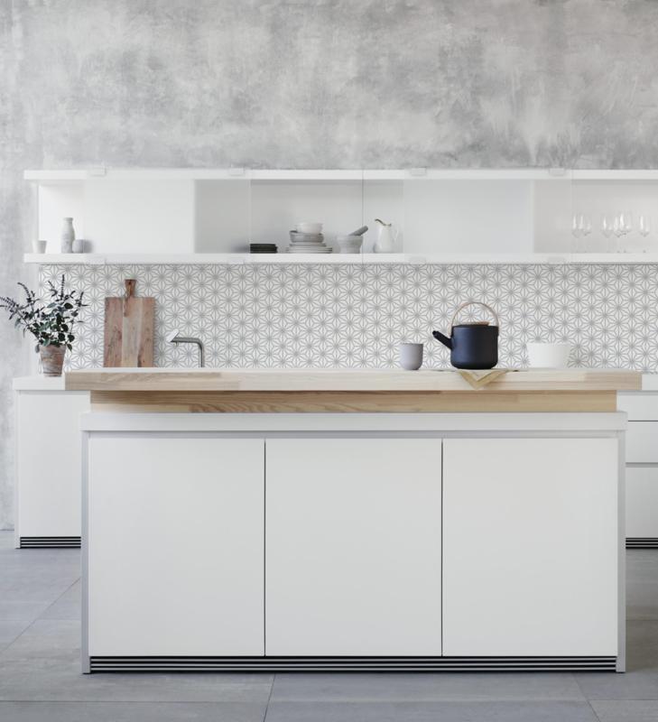 Keukenbehang STAR grey