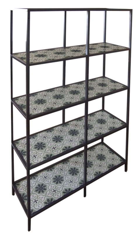 Vittsjo shelves CEMENT TILE  green