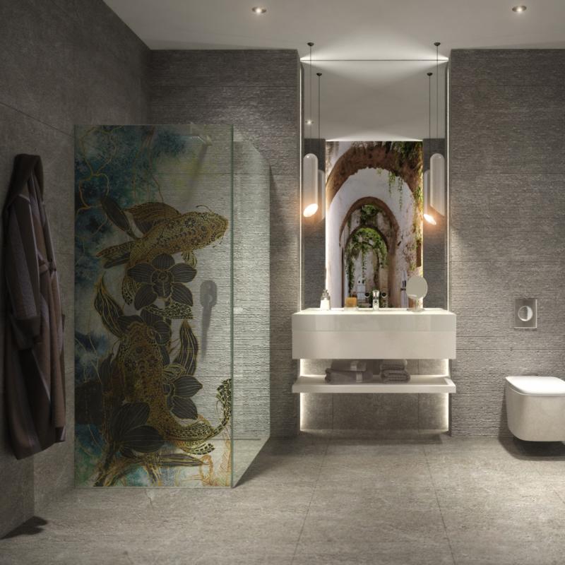 Shower screen GOLDEN KOI