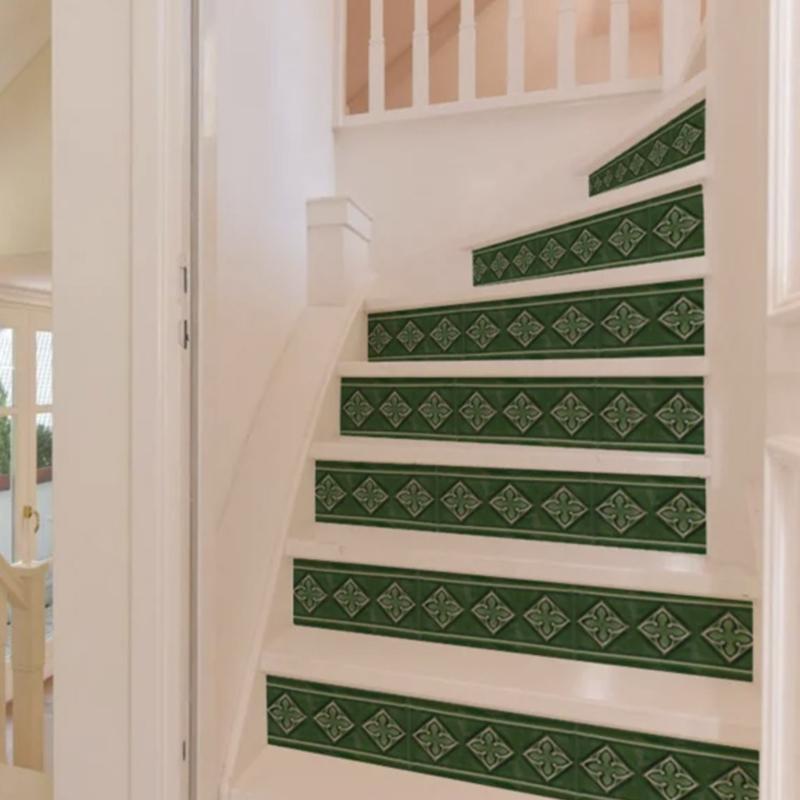 Stair Sticker GREEN TILE
